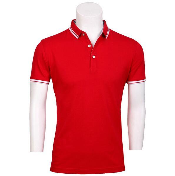 红色POLO衫订制,红色T恤衫订做,定做红色t恤衫,