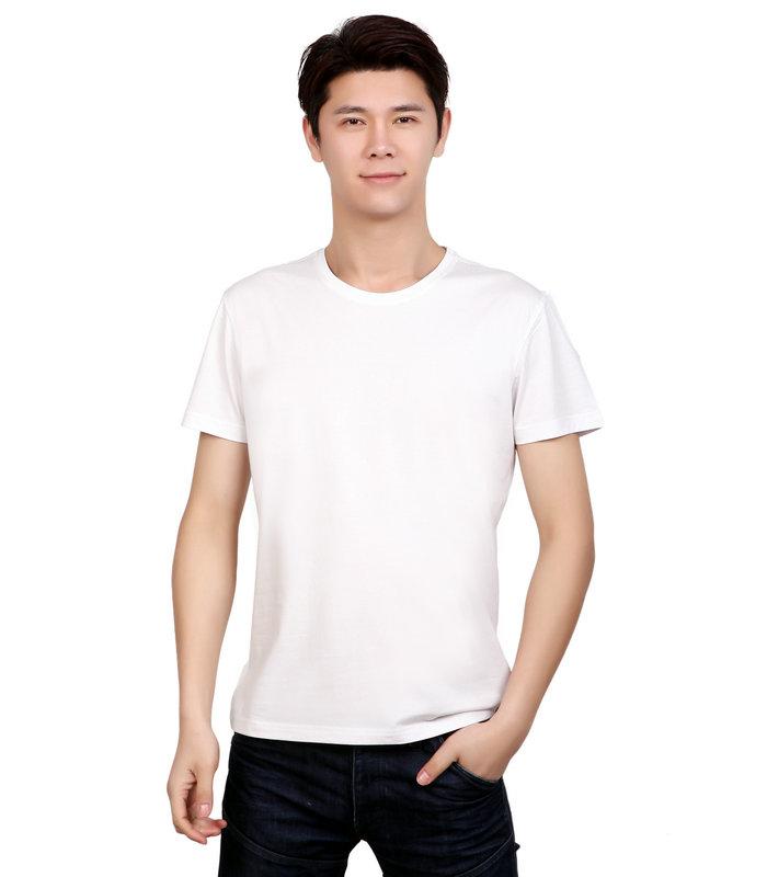 白色圆领t恤衫,定做白色文化衫,白色t恤衫定制