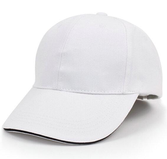 白色棒球帽广告帽太阳帽