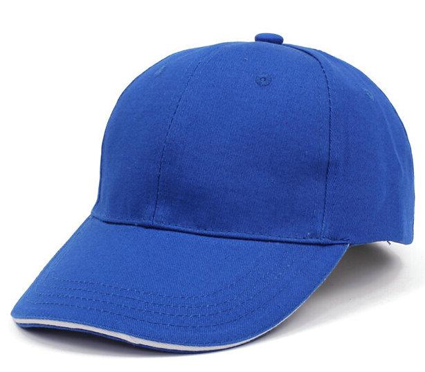 宝蓝色棒球帽广告帽太阳帽