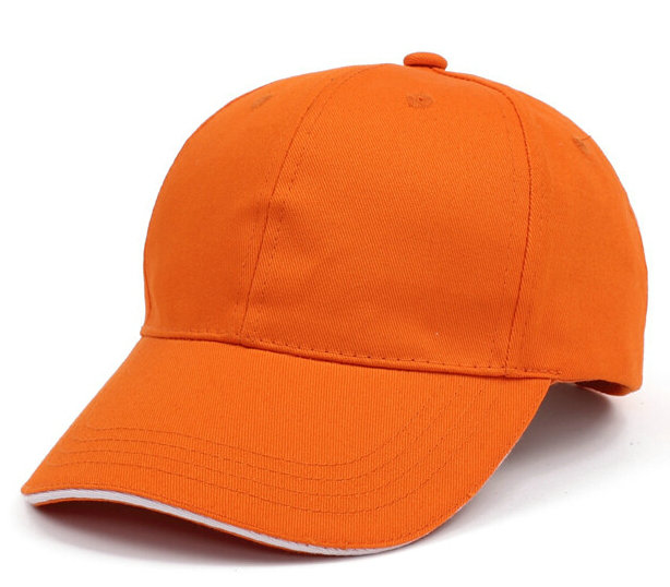 桔色棒球帽广告帽太阳帽