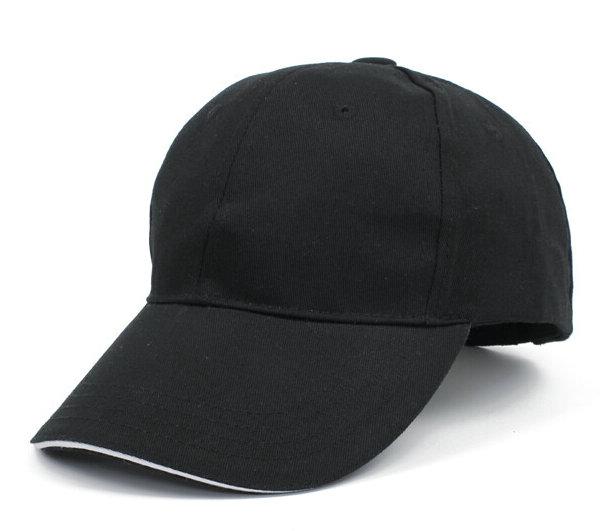 黑色棒球帽广告帽太阳帽