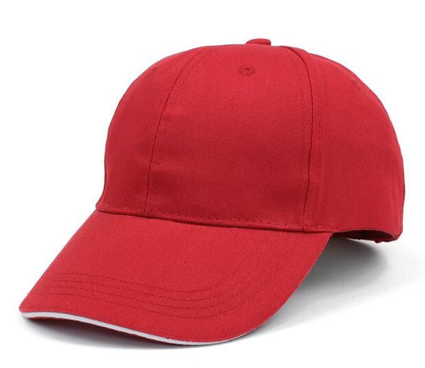 红色棒球帽广告帽太阳帽