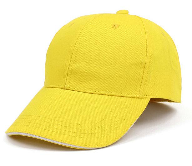 黄色棒球帽广告帽太阳帽