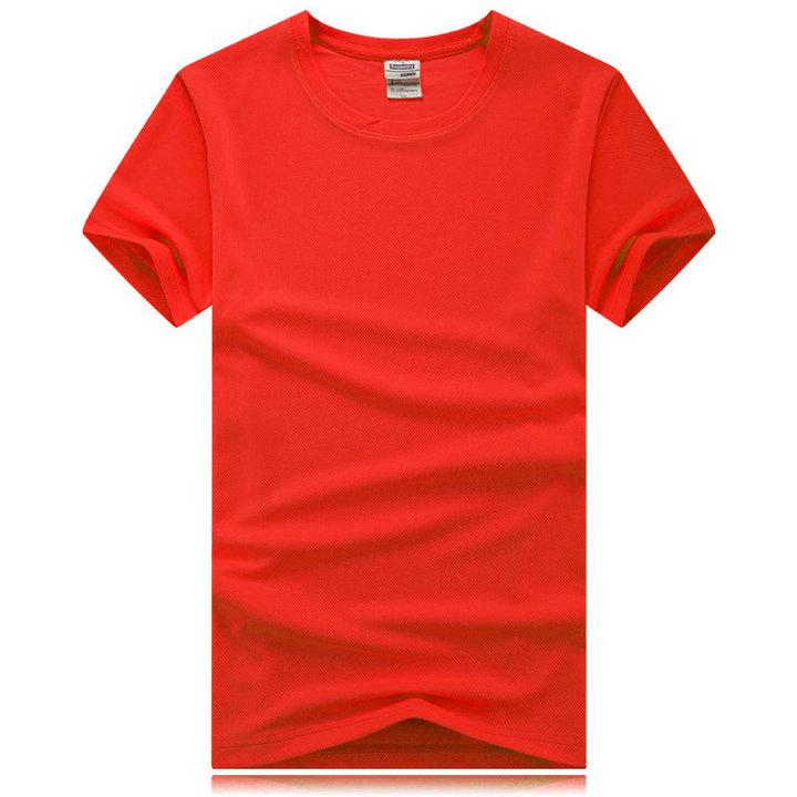 红色速干t恤,速干圆领t恤,速干文化衫订制,
