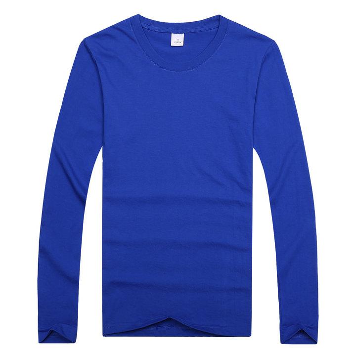 全棉长袖T恤,订做纯棉长袖,定制长袖圆领衫,