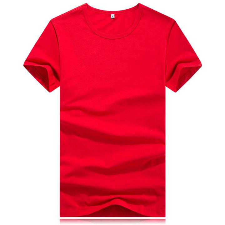 红色t恤定制,订做大红色t恤,红色t恤批发