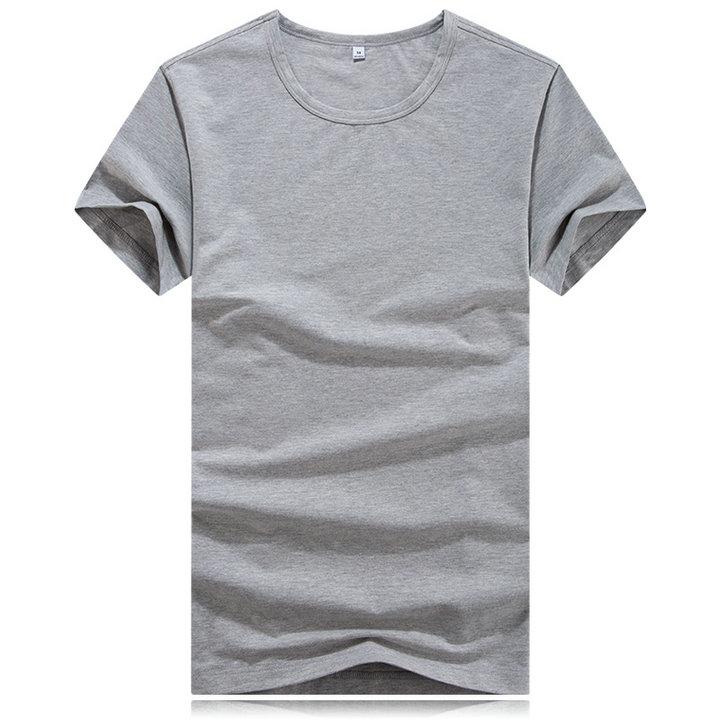 定制灰色t恤,灰色圆领t恤,圆领t恤印字,
