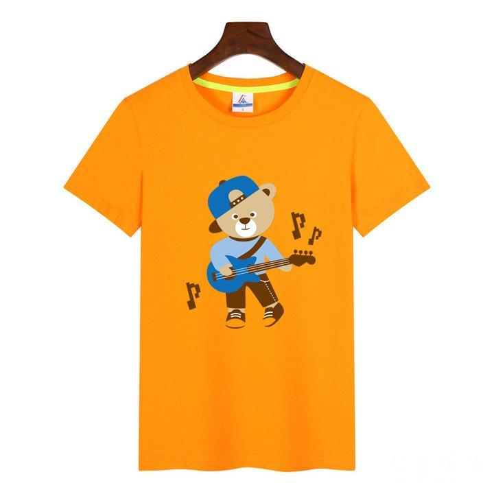莱卡棉T恤桔色2