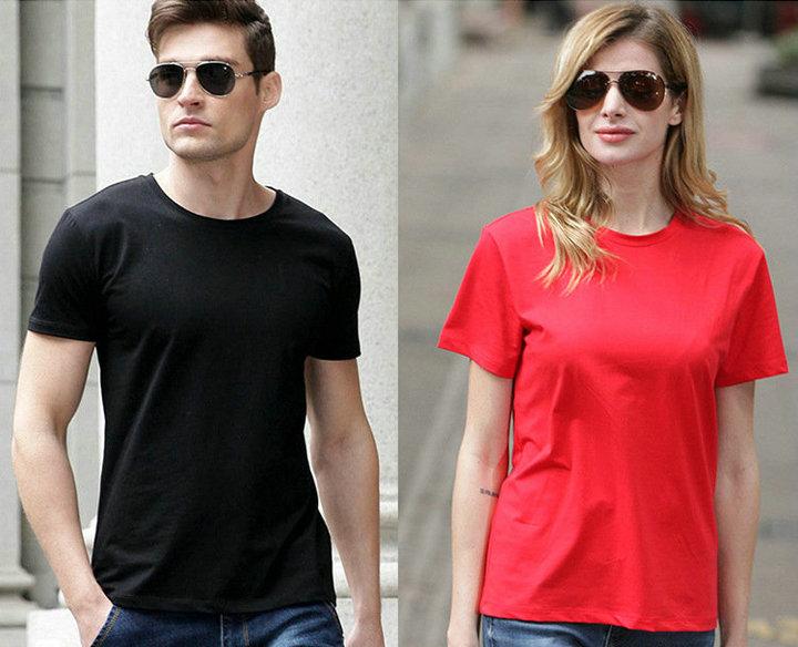 高品质冰丝莱卡T恤,圆领文化衫男女分款,现货印字