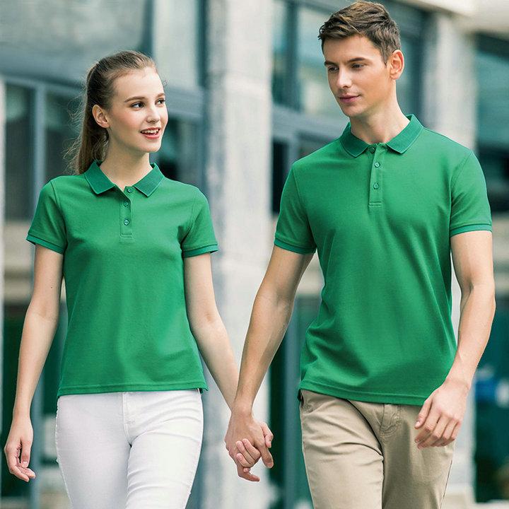 纯色铜氨珠地POLO衫,高品质polo绣字,最快可当天发货