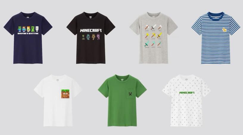 优衣库 x 《我的世界》推出联名T恤 3月20日发售