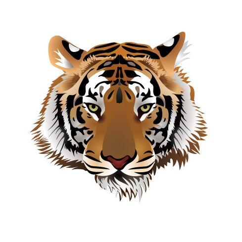 虎头标志图案矢量文件