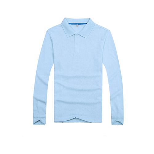 纯色长袖T恤衫_定做长袖POLO衫_长袖T恤印字