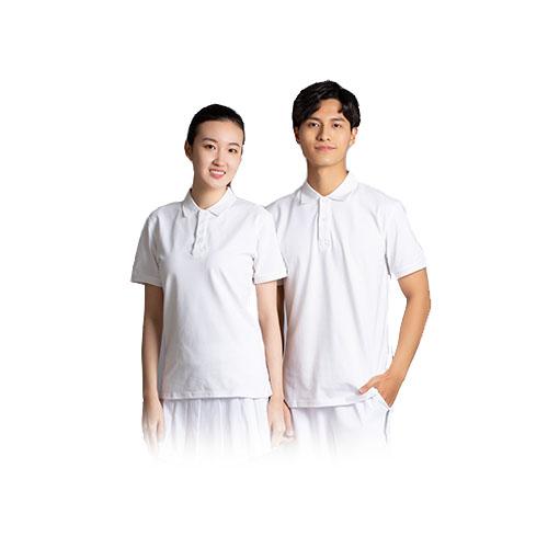 订做白色POLO衫,白色莱卡棉t恤,定制白色莱卡T恤,